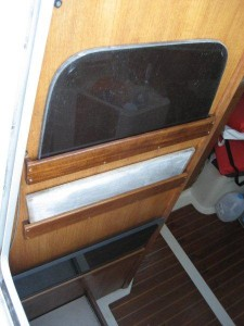 Companionway slats in holders