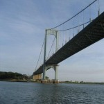 Under the Throgs Neck Bridge, no longer in Long Island Sound