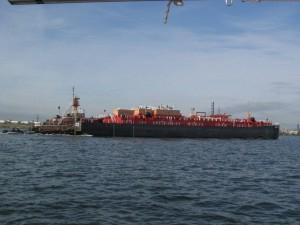 Tug pushing a barge