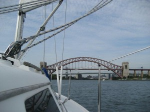 Approaching the Hell Gate Bridge