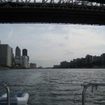 Looking north from under the Queenboro Bridge