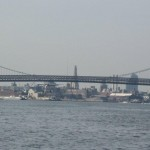 Seaplane under the Williamsburg Bridge