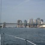 Manhatten Bridge with the Brooklyn Bridge in the background