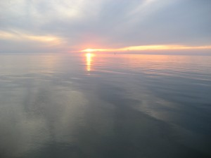 Sunset over the Delaware Bay