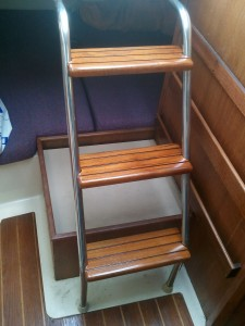 Companionway Steps Varnished and Installed
