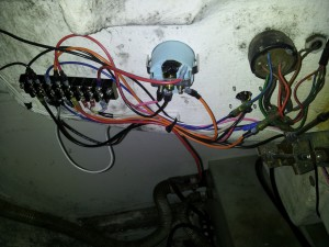 Gauge and terminal block wiring