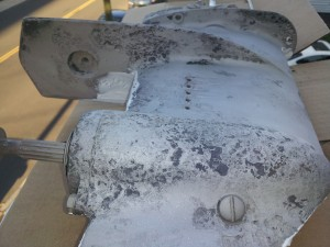 Lower Unit Corrosion Stbd