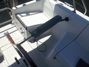 TillerPilot Installed Aft View